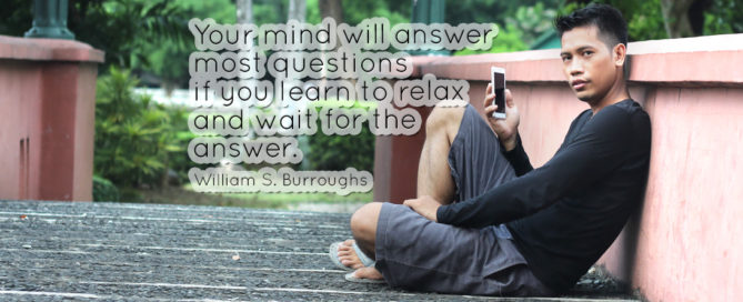Relax and wait for the answer